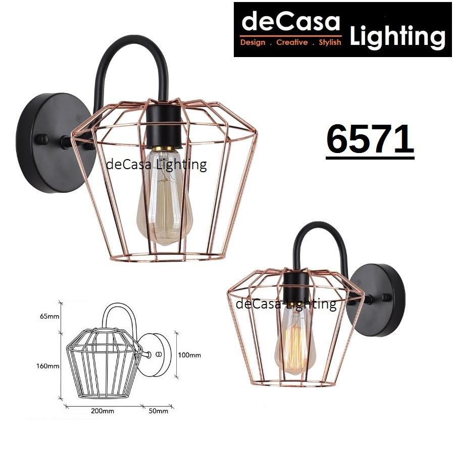 READY LOFT NORDIC STYLE ROSE GOLD WALL LIGHT DECASA WALL LAMP LAMPU DINDING 壁灯 ZF65