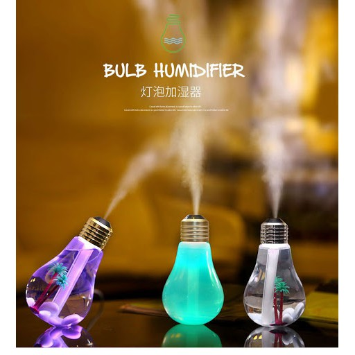 Bulb Lights & Air Humidifier 2 in 1 for home, car, bedroom & study table