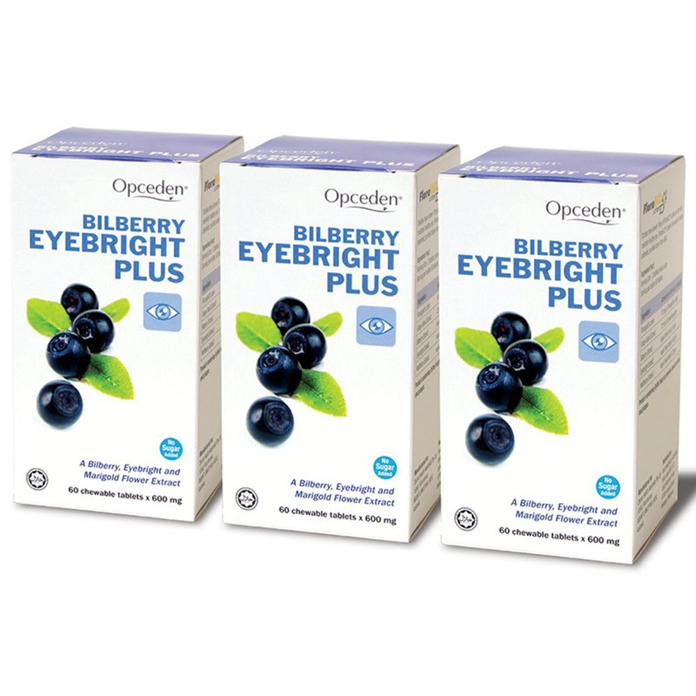 Opceden Bilberry Eyebright Plus 2 x 60's Free 60's