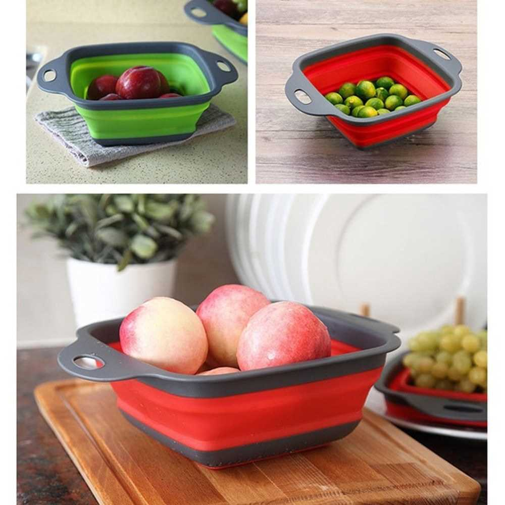 Collapsible Stretch Storage Vegetable Fruits Basket (red1)