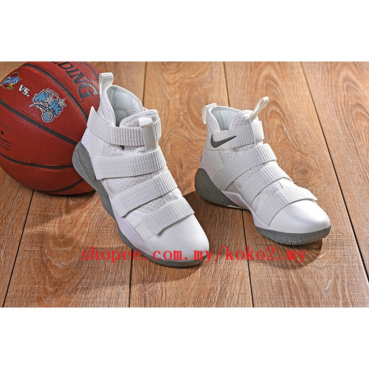 official photos c176d f7a1f 100% Original Nike LEBRON soldier James soldiers 11 Sports real basketball  shoes