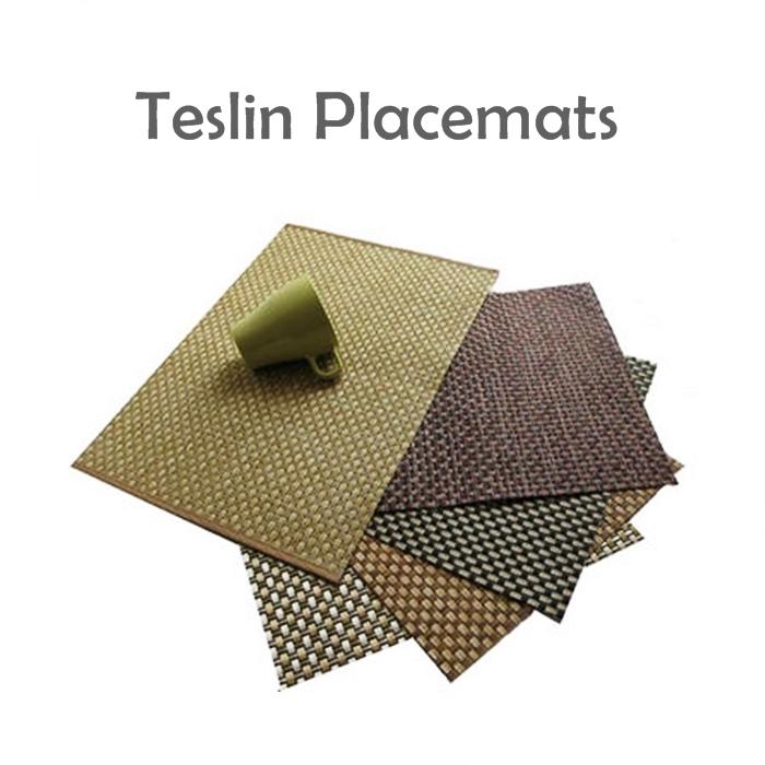 Teslin PVC Placemats Tablecloths Environmentally Friendly Table Mat 1pcs