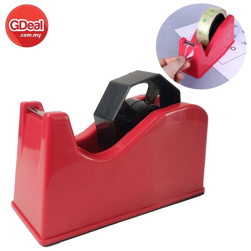 GDeal Heavy Duty Tape Dispenser Desktop Office Sellotape Sticky Pack Holder (Random Colour)