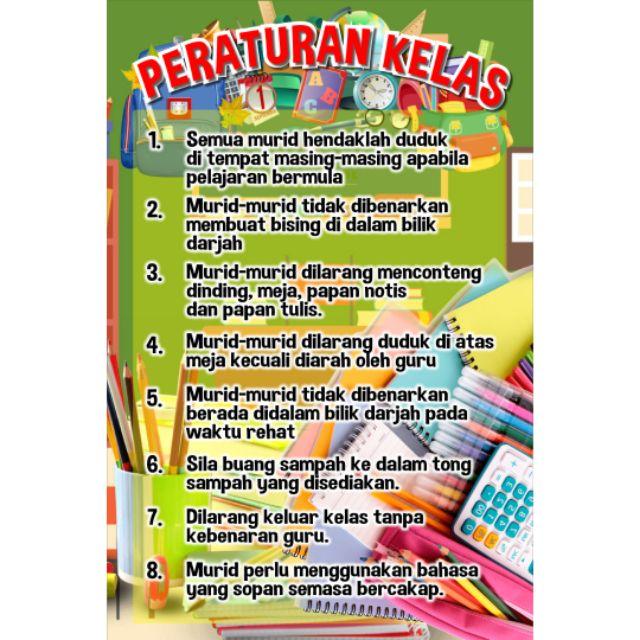 Baru Banner Bunting Peraturan Dalam Kelas Shopee Malaysia