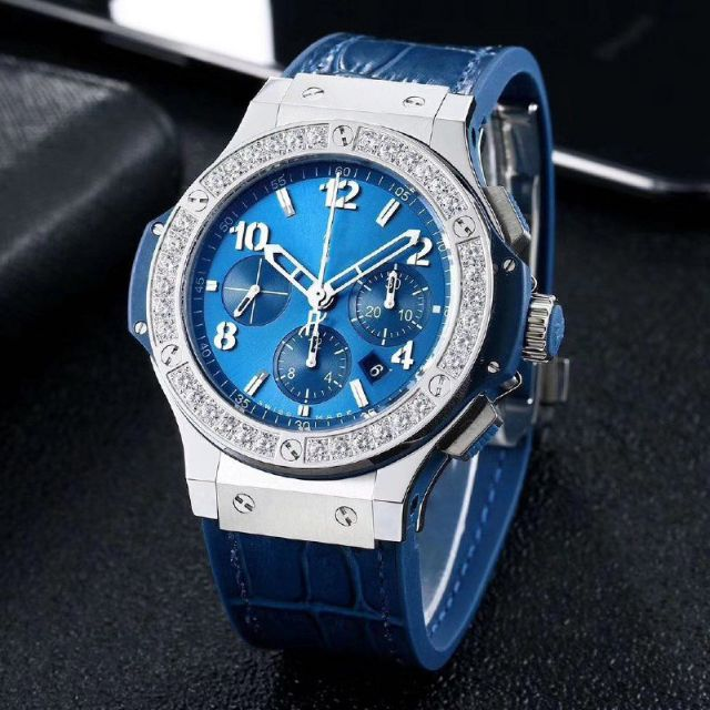 BIGB4NG 44MM SS V6F BEST EDITION BLUE DIAL DIAMONDS BEZEL ON BLUE GUMMY STRAP H*B4104💥PM TO GET MORE DETAILS PICTURES💥