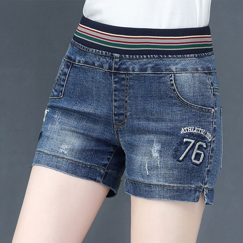 discount coupon newest style of choose latest ☃▪Bull-puncher knickers female tall waist in the summer of 2019 new elastic  fat MM joker leisure loose big yards outsid