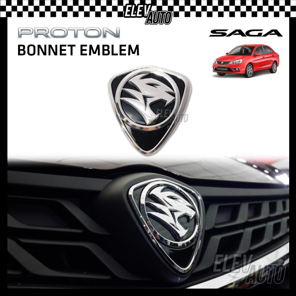 PROTON New Design Chrome Logo Emblem Front & Rear Saga 2016-2021