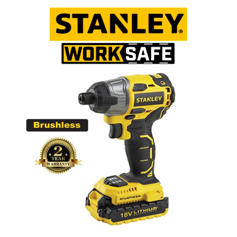 STANLEY SBI201D 18V MAX BRUSHLESS DRILL DRIVER( 2 YEAR WARRANTY)