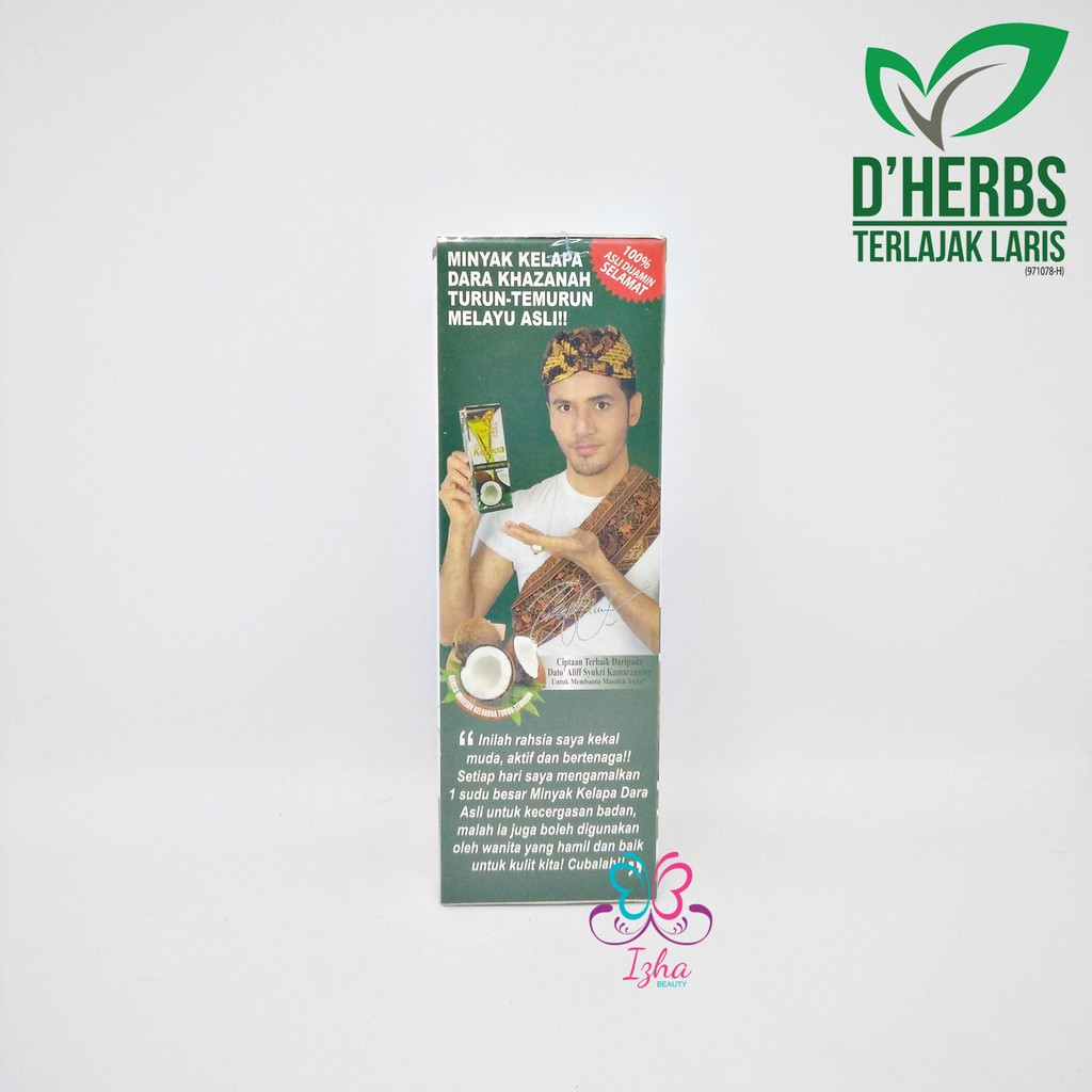 [D'HERBS] Minyak Kelapa Dara Asli (Virgin Coconut Oil) - 60ml