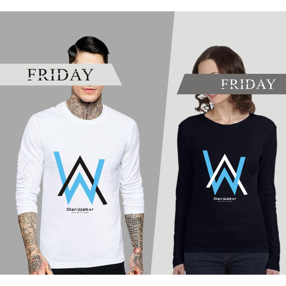 72de71725 Faded 🅰Alan Walker DJ🎹 Fashion Cotton Long sleeve T-Shirt for Couple  Lover 📢 | Shopee Malaysia