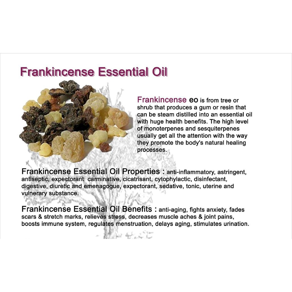 The Miracle 18 Essential Oils Frankincense Essential Oil Natural Remedies Shopee Malaysia