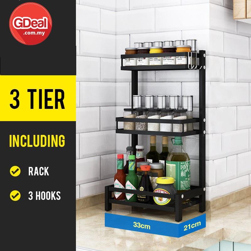 GDeal Kitchen Rack Kitchen Accessories Rak Dapur Kitchen Organizer Spice Container Rack Jar Organizer Seasoning Rack