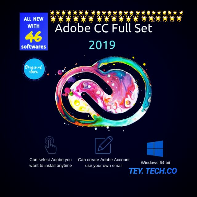 Adobe CC 2019 Full Set for PC 32/64 Bit LIFETIME | INSTRUCTION + INSTALLER  🔥