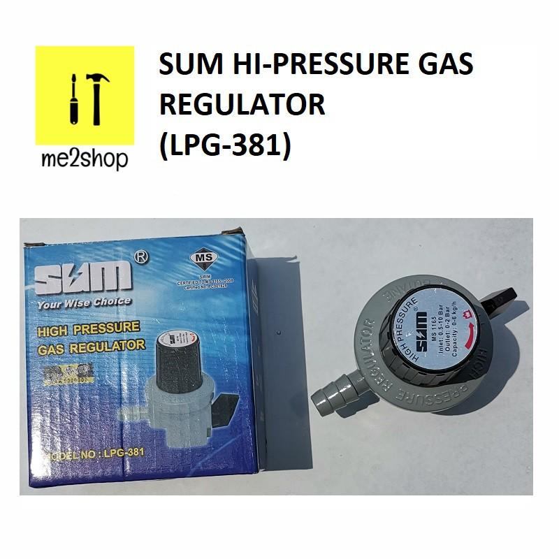 SUM HIGH PRESSURE GAS REGULATOR (LPG-381)