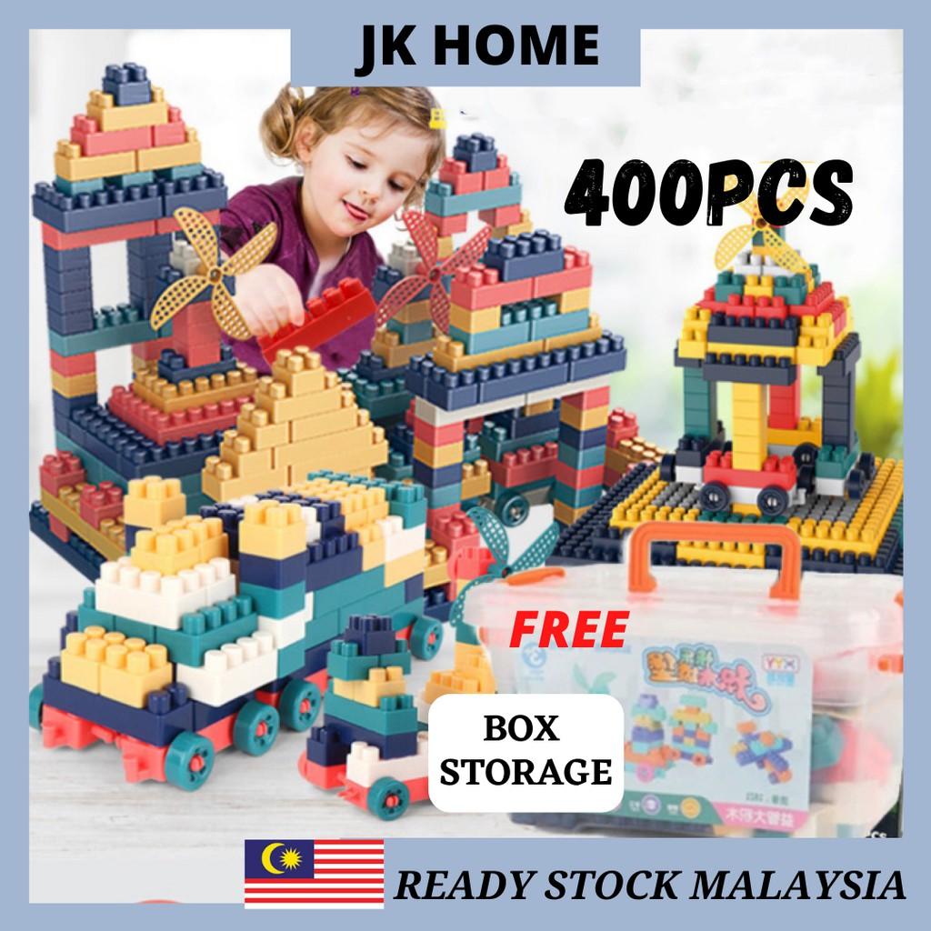 JK Home 400 pcs Particle Puzzle Plastic Building Blocks Lego Mainan Budak Educational Kids Toys Building Block