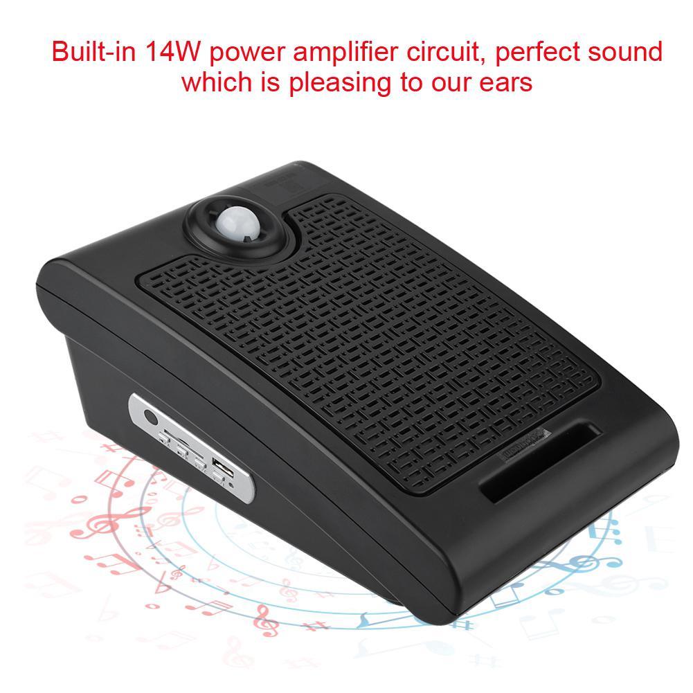 10W PIR Infrared Motion Sensor Scream Speaker SD Card Audio Player fr House  Shop