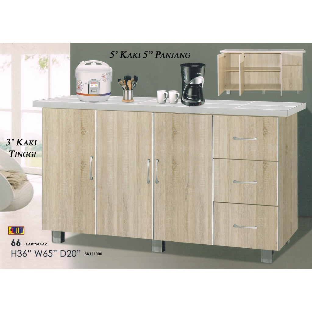 LHT Kitchen Cabinet 5.5 ft Width x 3 ft Height x 20 ...