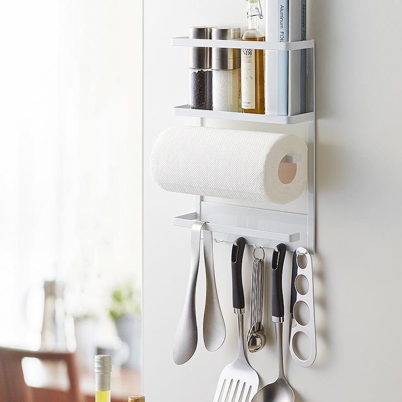 GDeal Kitchen Organizer Cast Iron And Powder Coating Magnetic Refrigerator Storage Shelf
