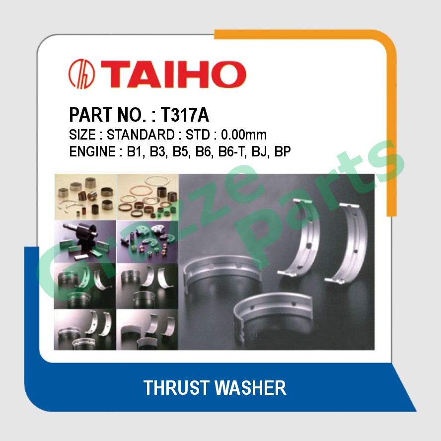 Taiho Thrust Washer STD Size T317A for Mazda TX3 1.6 1.8