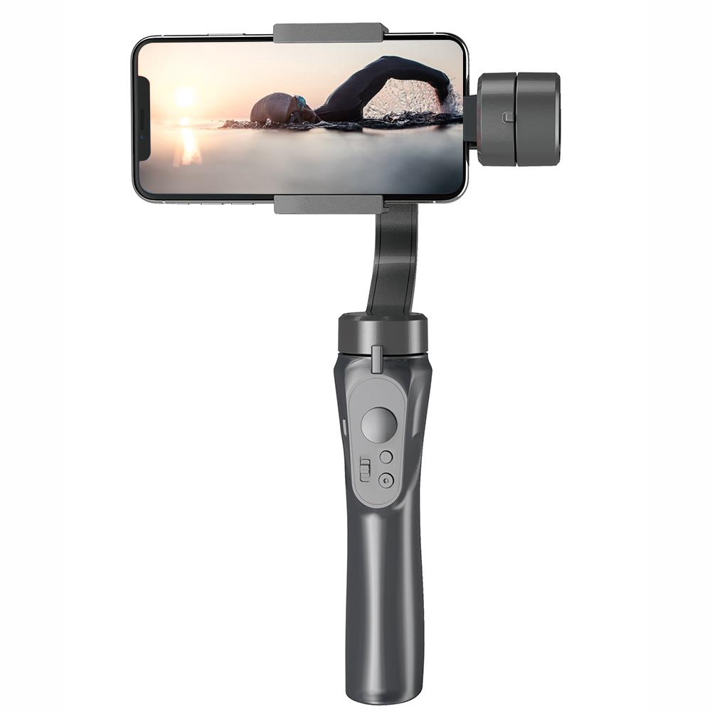 URRNDD H4 3 Axis Handheld Anti-Shake Mobile Phone Gimbal Stabilizer for Cellphone Action Camera for Gimbal Microphone Camera Black