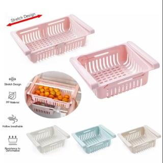 Adjustable & Stretchable Fridge Organizer Fresh Spacer Layer Storage Rack  Drawer Basket Refrigerator Pull-out Drawers | Shopee Malaysia