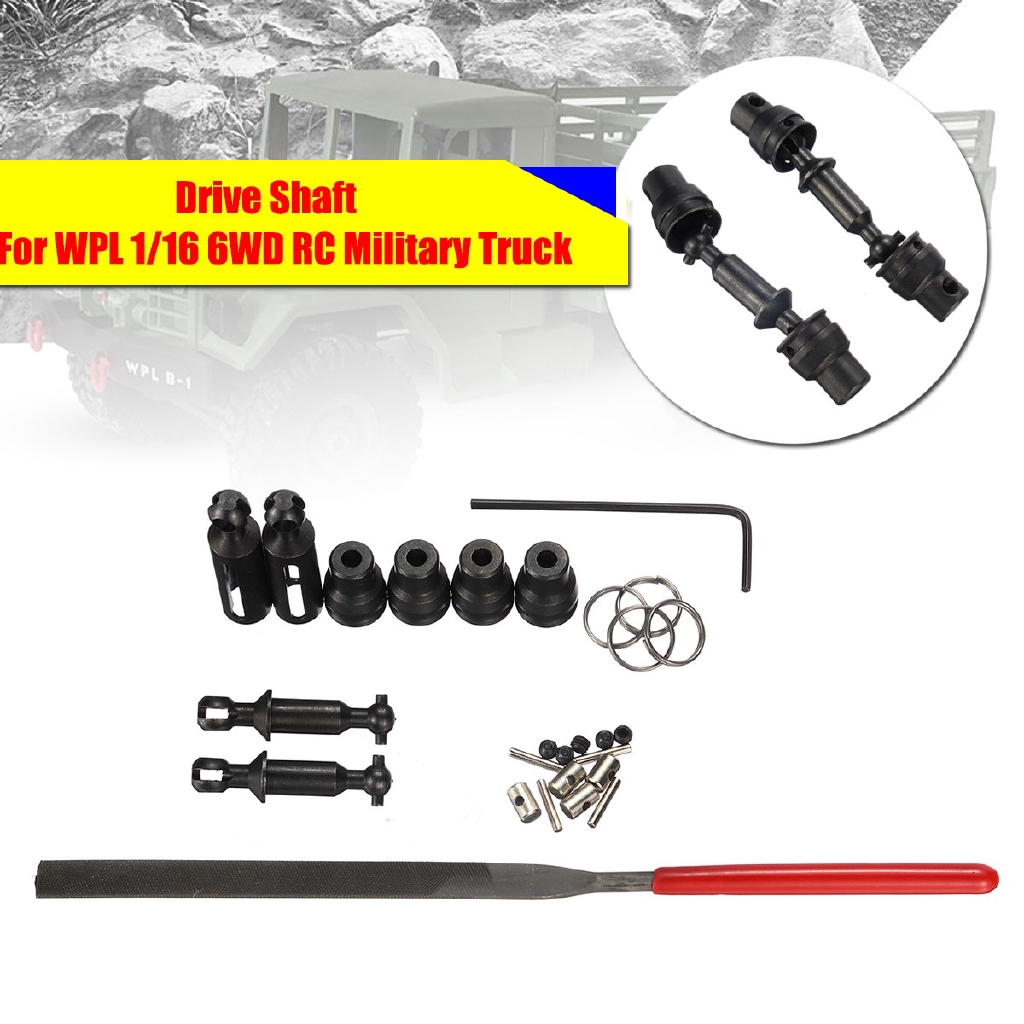 1 Set Upgrade Parts Metal Drive Shaft For WPL 1/16 6WD Crawler Off Road RC  Car