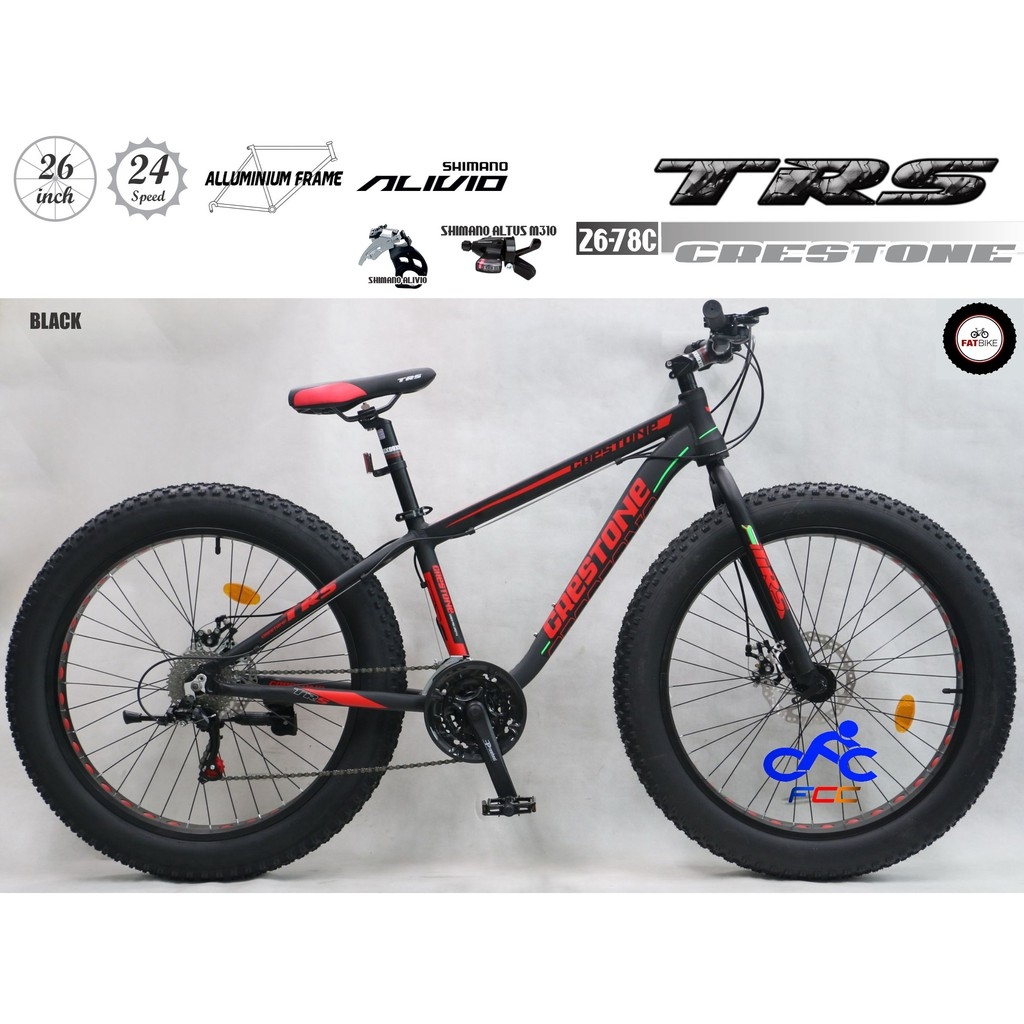 TRS BICYCLE FAT BIKE CRESTONE 26