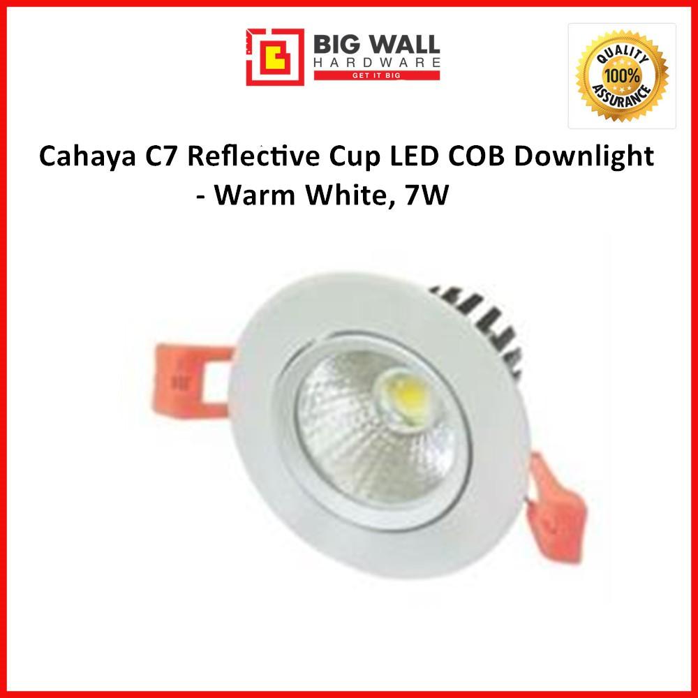 Cahaya C7 Reflective Cup LED COB Downlight - Warm White, 7W
