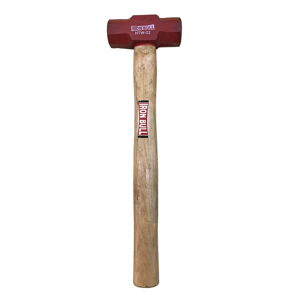 Iron Bull Double Faced Blacksmith's Hammer With Wood Handle HTW-8-12LB