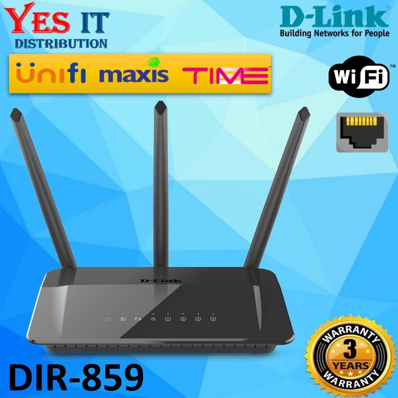 AC1750 WiFi Gigabit Router D-Link DIR-859 Dual Band High Speed Power Amplifiers