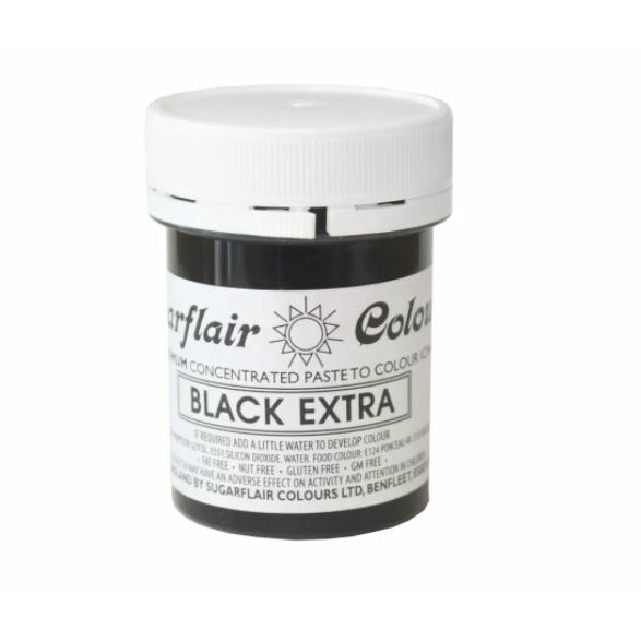 Sugarflair, Concentrated Paste Colours, Spectral, Black Extra, 42 gram