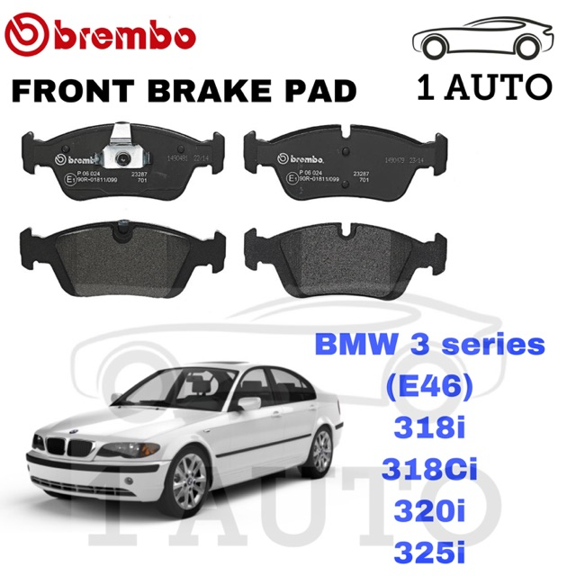 Fits BMW 3 Series E46 325i Genuine Brembo Rear Brake Pads Set