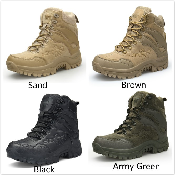 2019 LS Sport Army Boots Men's Tactical Boots Desert Outdoor Hiking Casual Swat Boots