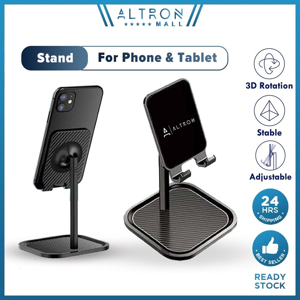 ALTRON Phone Stand Holder Live Video Desktop Holder Universal Rotation Front Back Adjustable Angle For Smartphone