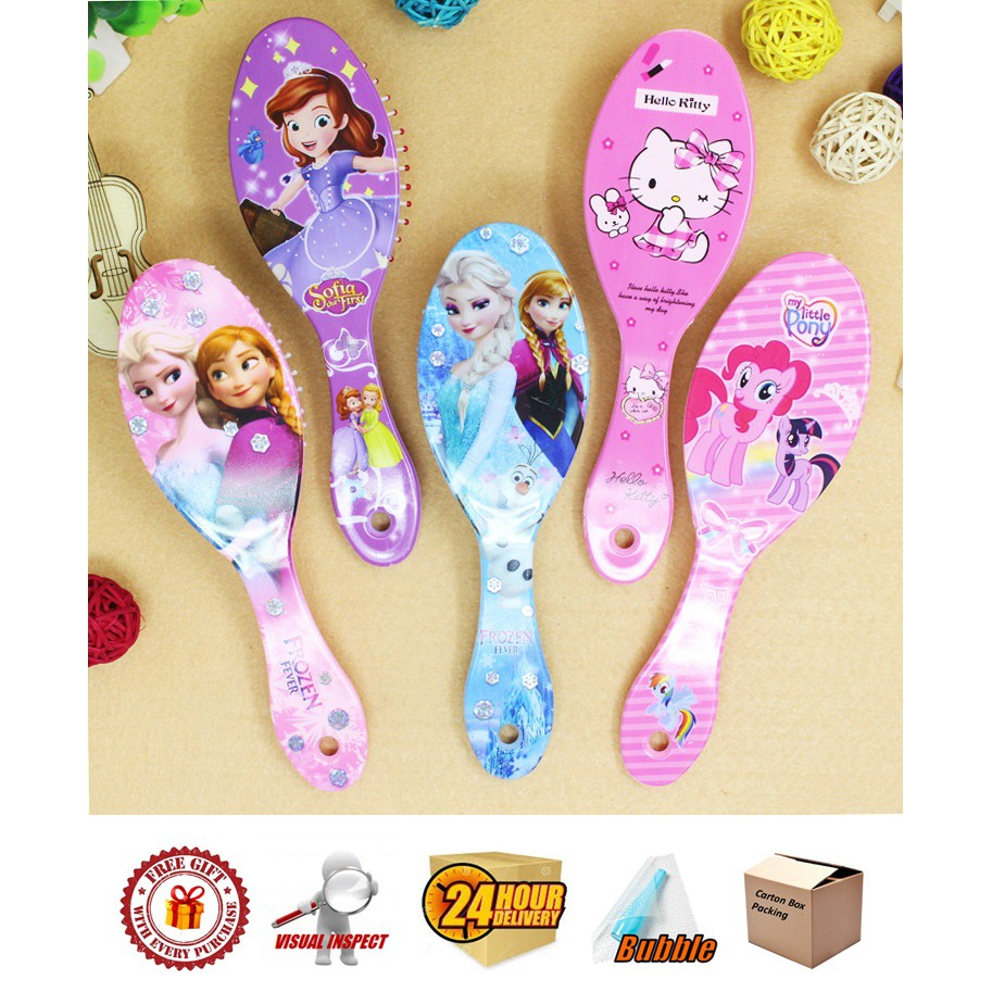 Hair Brush/ Comb Frozen / Sofia/ Little Pony/ Princess/ Kitty