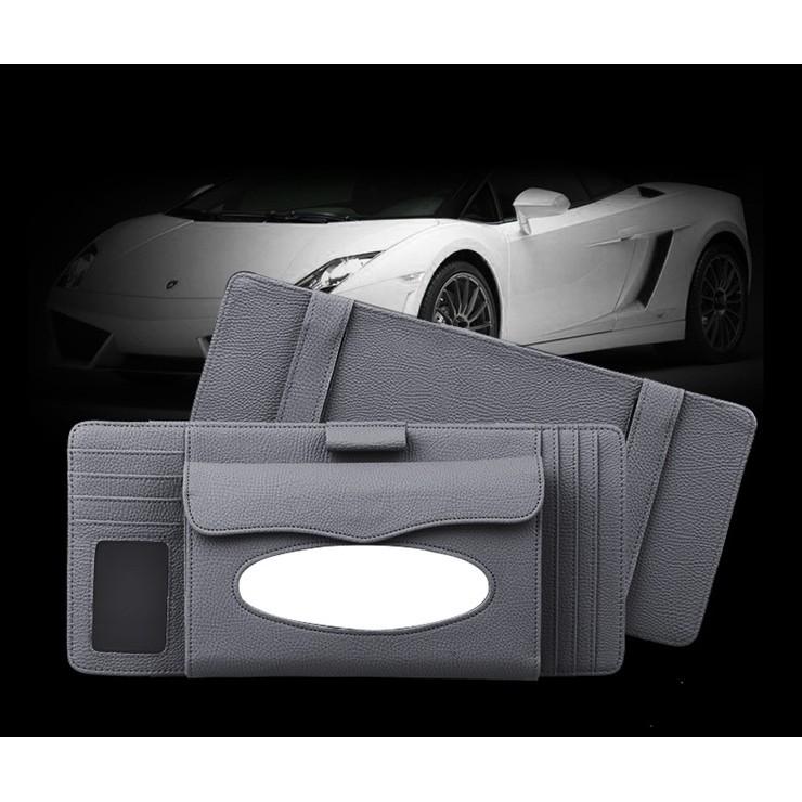 Car sun visor type tissue package car tissue box car multi-function three-in-one tissue pumping car CD holder