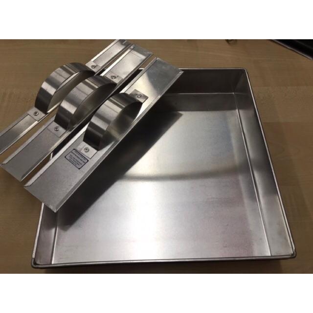 """Acuan Aluminium 10x10x2"""" + Pembaris Aluminium Kuih Talam / Cake 3pcs"""
