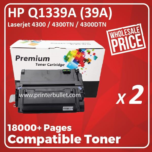 2 unit HP Q1339A / 39A / 1339 Compatible Toner Cartridge