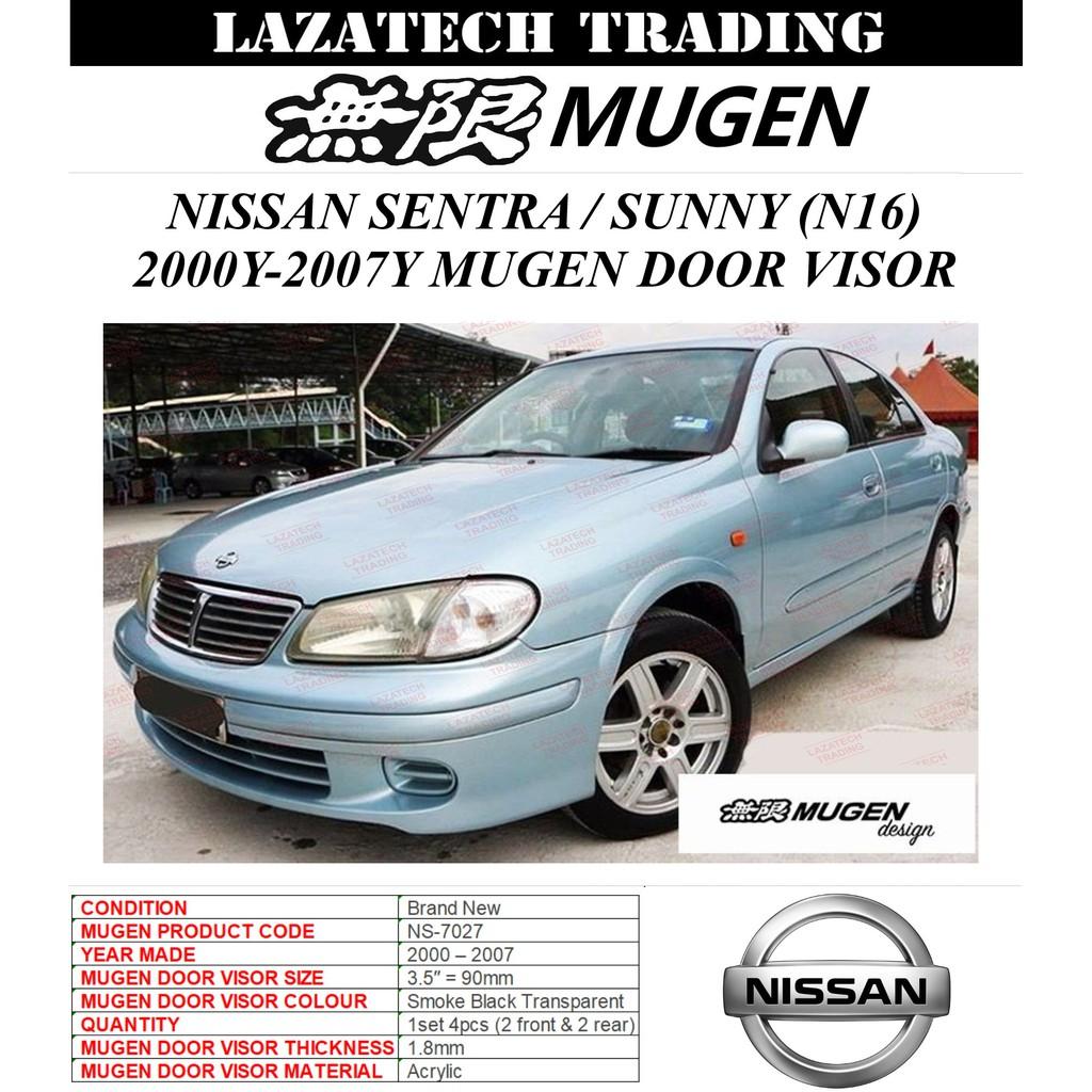 Mugen Door Visor Nissan Sentra N16 2000 2007 Shopee Malaysia