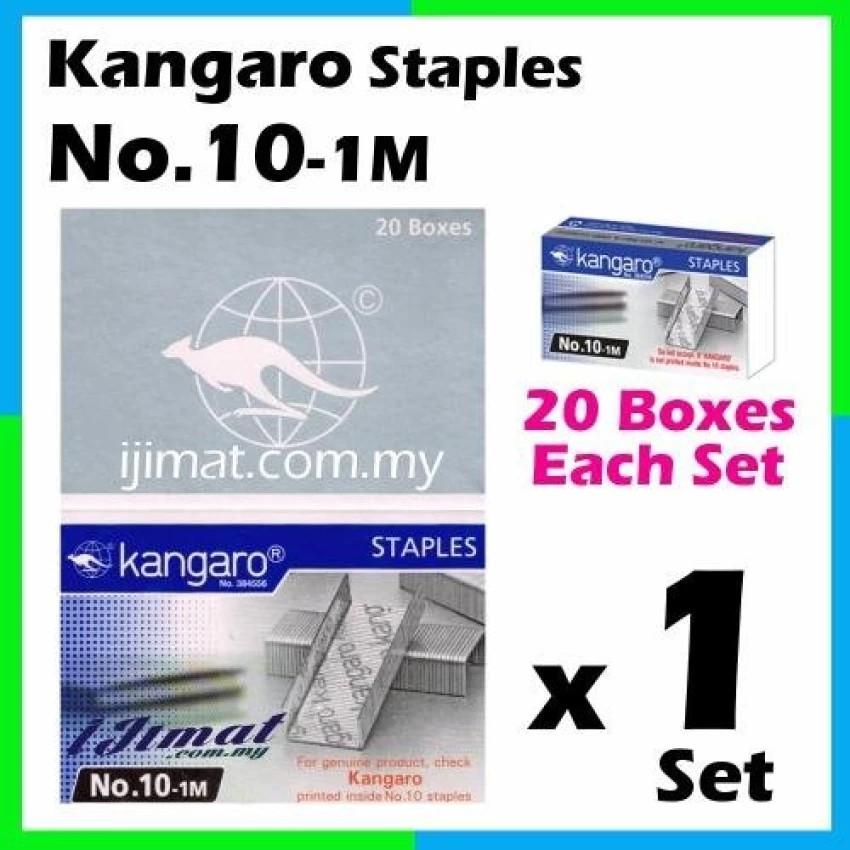 Kangaro No.10 1M Stapler Pins Pack of 20 100/% New Original Free Shipping
