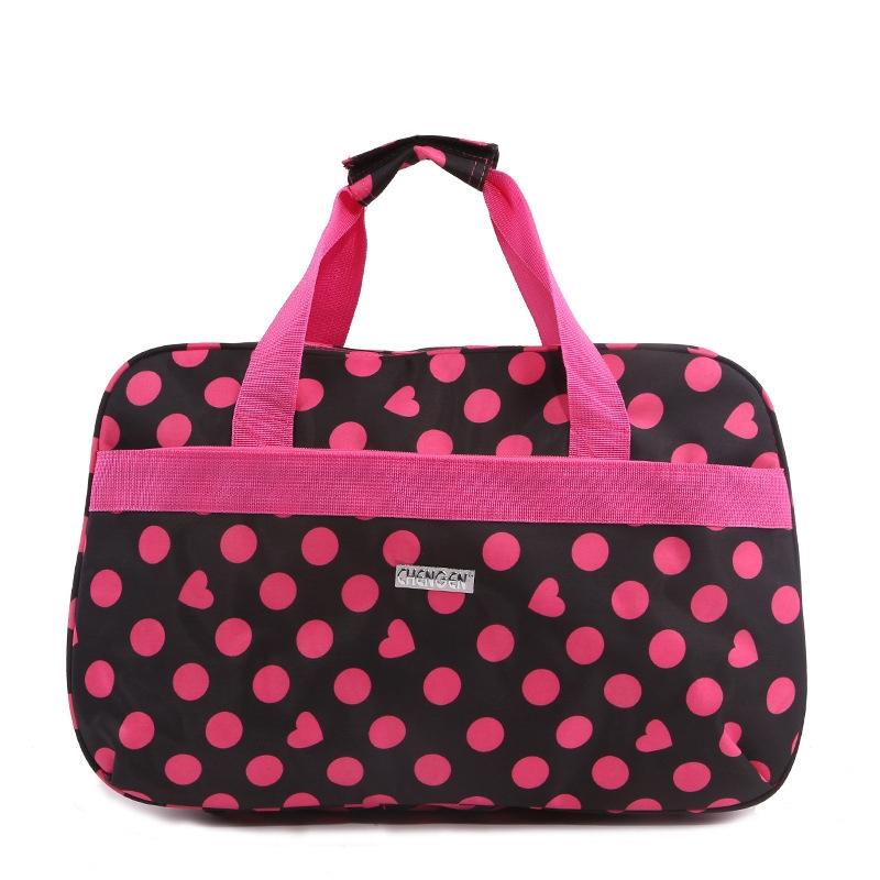 Travel Luggage Duffle Bag Lightweight Portable Handbag Blue Geometric Pattern Large Capacity Waterproof Foldable Storage Tote