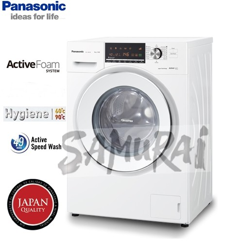 PANASONIC FRONT LOADING WASHER QUICK LAUNDRY 8KG NA128XB1WMY