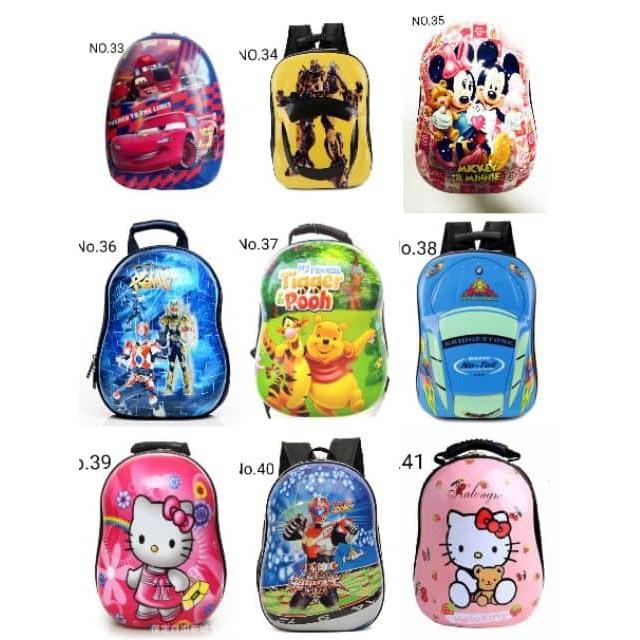 backpack school kids eggshell design no.1-20