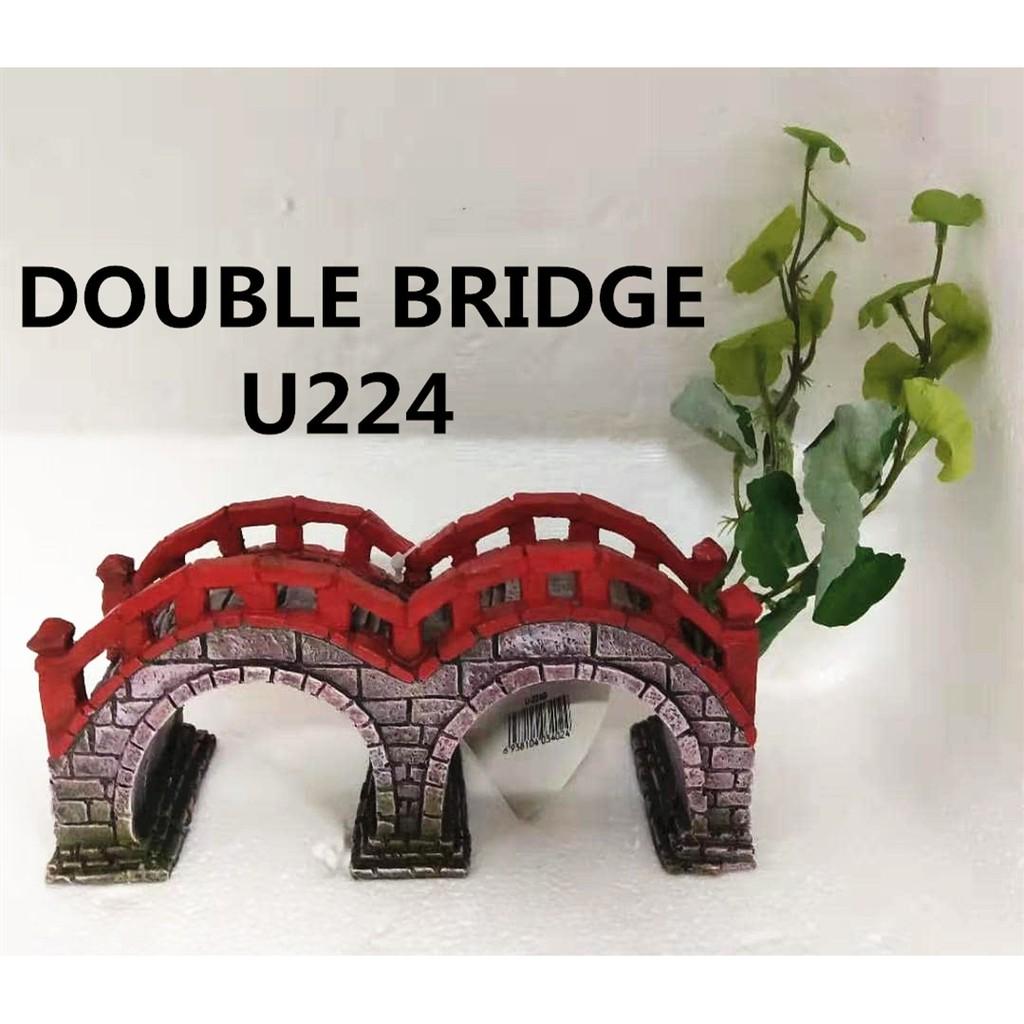 DOUBLE BRIDGE U224 AQUARIUM DÉCORATION鱼缸装饰品