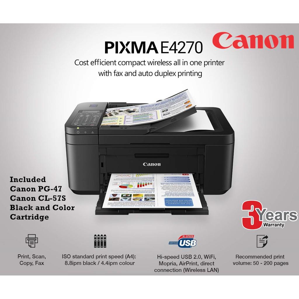 Canon PIXMA E4270 Wireless All-In-One Printer ( Print / Scan / Copy / Fax )