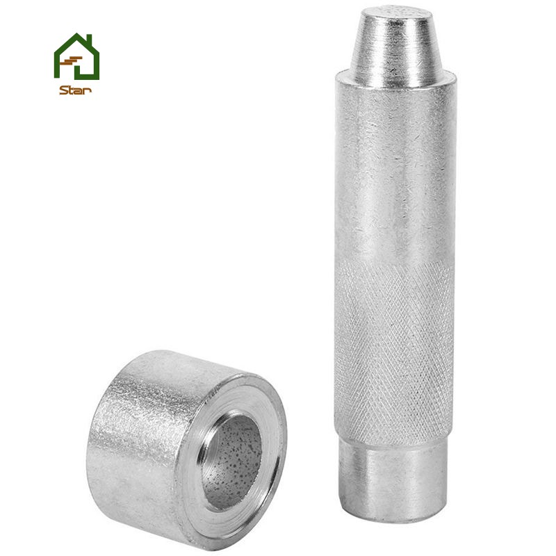 2000#-20mm 20 Sets Eyelet with Washer For Leather Craft Clothing Grommet Banner New Eyelet Punch Die Tool Set Kits