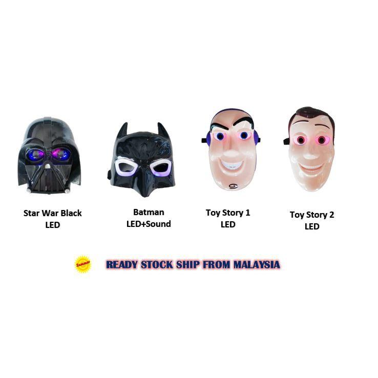 Star Wars Batman Toys Story LED Mask Custome Play Pretend Play Play