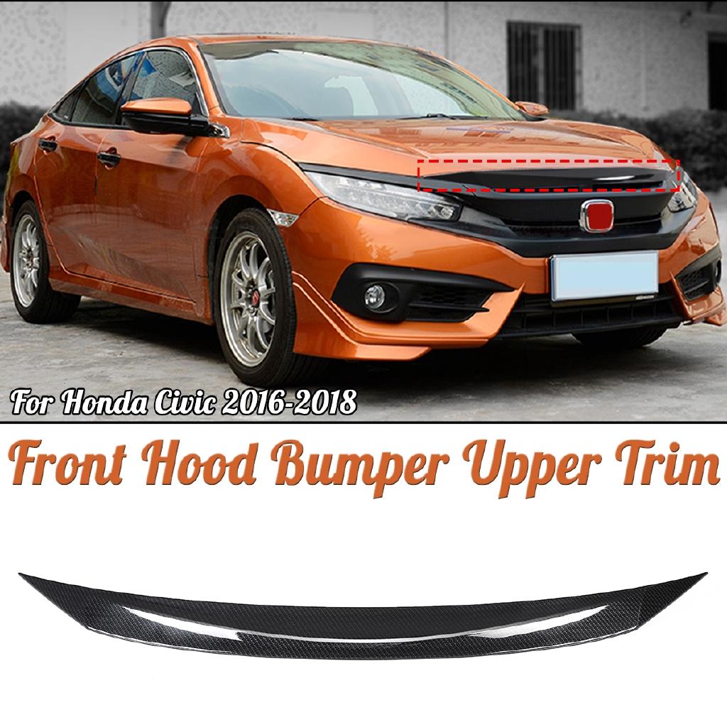 Car Carbon Rear Brake Taillight Turn Lamp Cover Trim For Honda Civic X 2016-2018