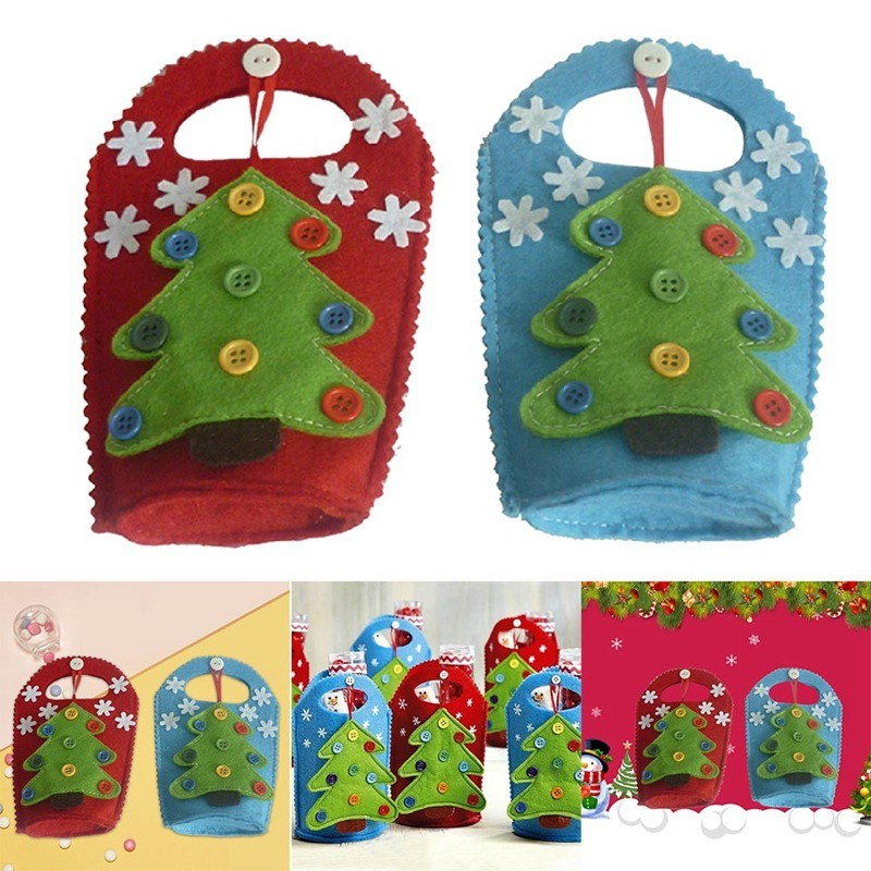 Christmas Diy Cloth Bag Flip Pouch Box Gift Package Birthday Party Decor Candy Bag