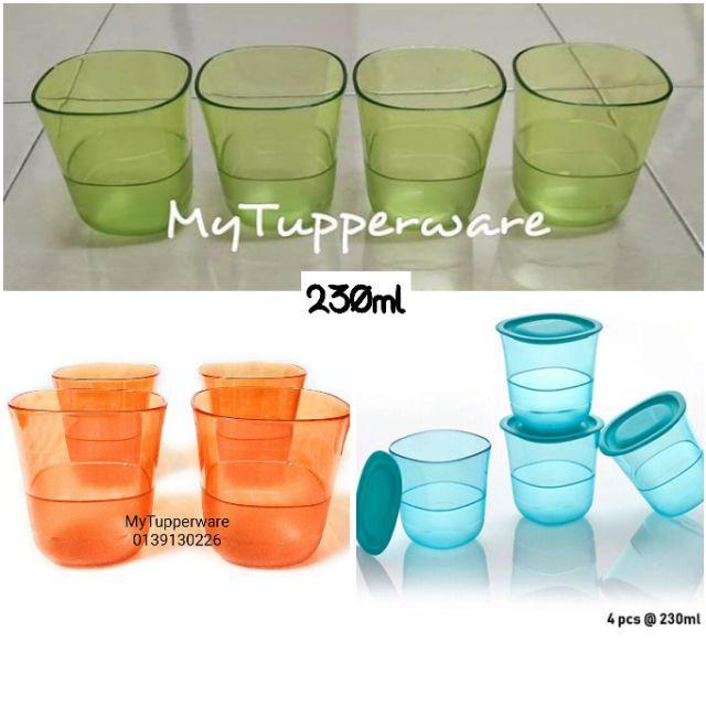Tupperware Green Low Glass (1)